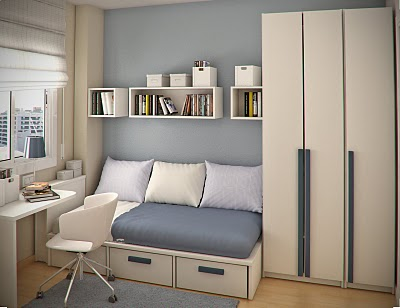 Simple and Minimalist Teen Bedroom Design by Sergi Mengot 3