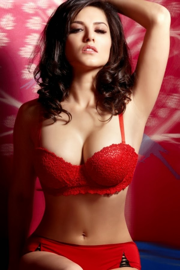Sunny Leone Latest HD Red bra wallpapers pics images