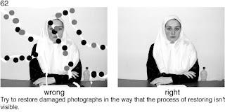 Совет 62. При восстановлении поврежденной фотографии необходимо ее обрабатывать так, что бы повреждения были реально скрыты.