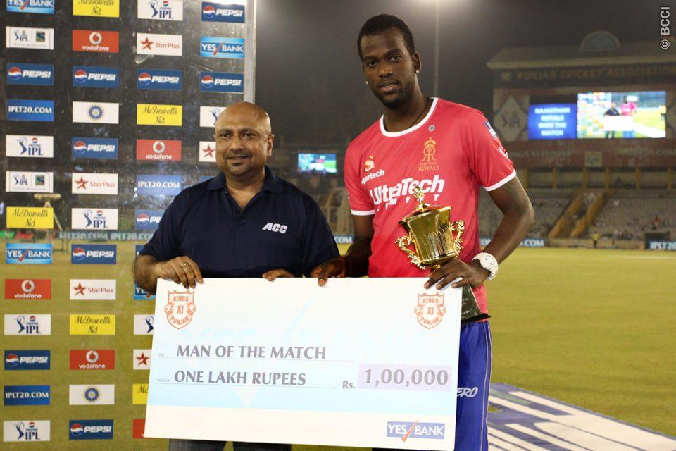 Kevon-Cooper-Man-of-the-Match-KXIP-vs-RR-IPL-2013