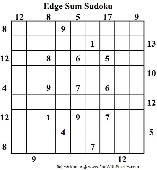Edge Sum Sudoku (Daily Sudoku League #119)