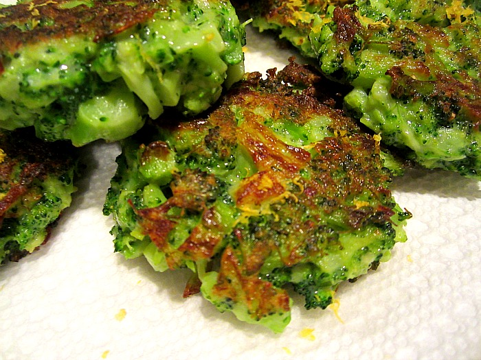 Adult Broccoli Parmesan Fritters: (adapted from Smitten Kitchen )