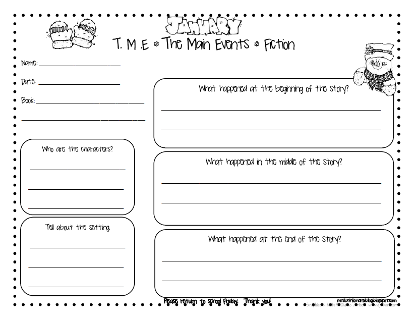 English Worksheets  Book Report Template