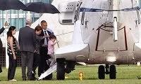 Dilma embarca com filha e neto para descansar