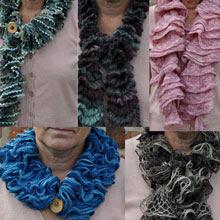 Sjove tørklæder af båndgarn