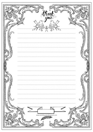 Free printable cool cat stationery letter paper