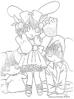 Gambar Kamichama Karin Untuk Diwarnai