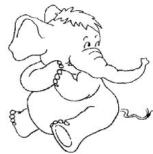 mewarnai gambar gajah untuk anak 6
