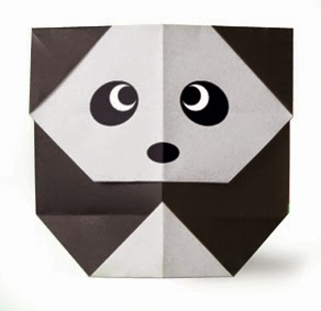 Origami Tutorials - How to make a Panda Gear with Video