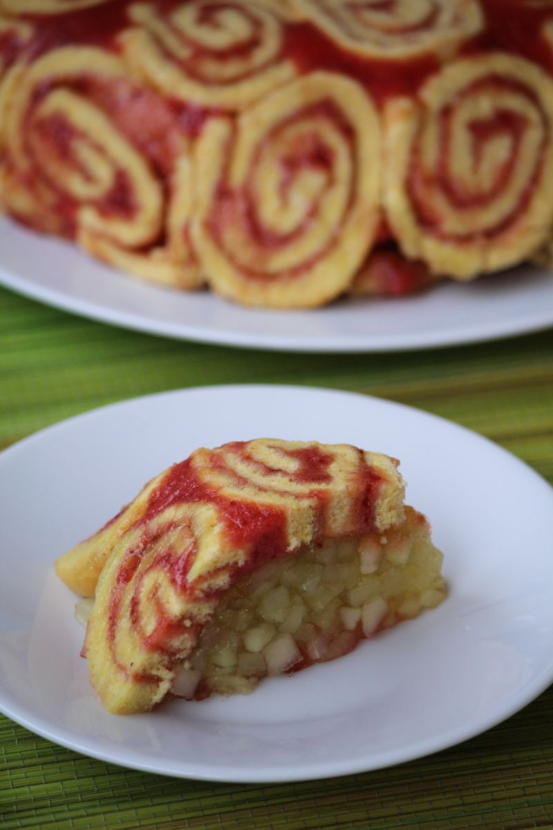 deser z jabłkami