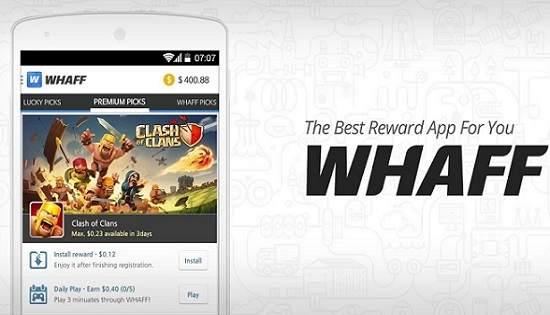 Cara Mendapatkan uang dari Android Dengan Aplikasi Whaff