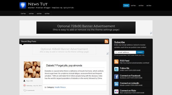 News Tut SEO friendly Blogger Template