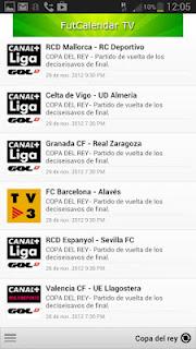 Sport Calendar TV Spain