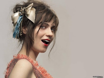 Zooey Deschanel Colorful Wallpaper