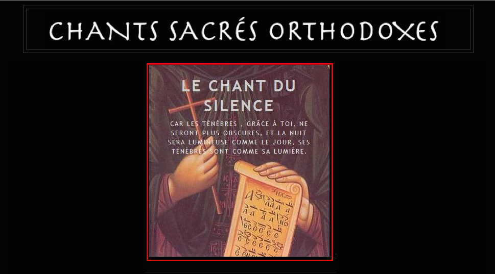 Chants sacrés orthodoxes