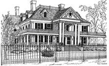 Drawing of Lounsbury House