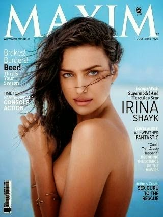 Irina Shayk Super Model On Cover Page of Maxim India