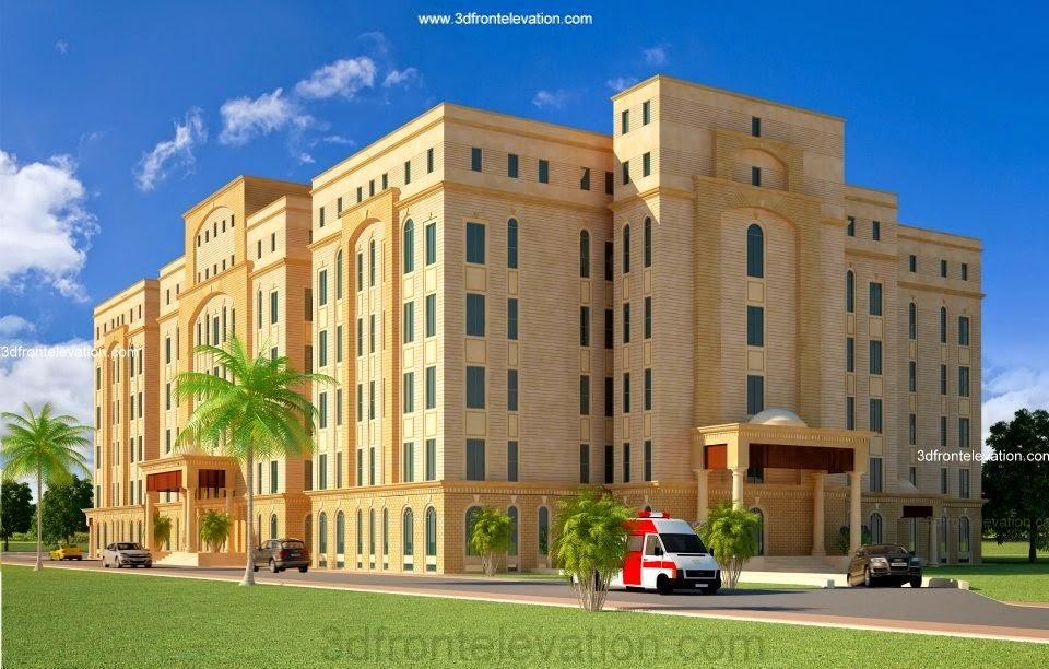 Front Elevation Hospital : D front elevation dimentia lahore hospital