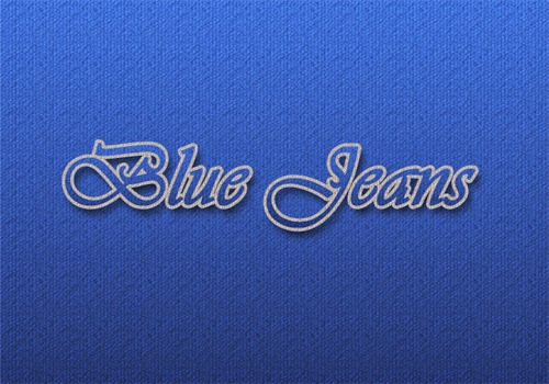 Create Blue Jeans Text Effect In Photoshop