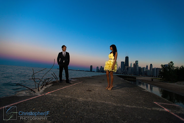 Downtown Chicago North Avenue Beach Engagement
