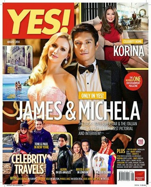 James Yap, Michela Cazzola, Kris Aquino, Italy, PBA, Philippine Basketball Association, Basketball, San Mig Super Coffee Mixers, Bimby, Josh