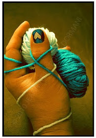 i love the color green, nail polish & yarn