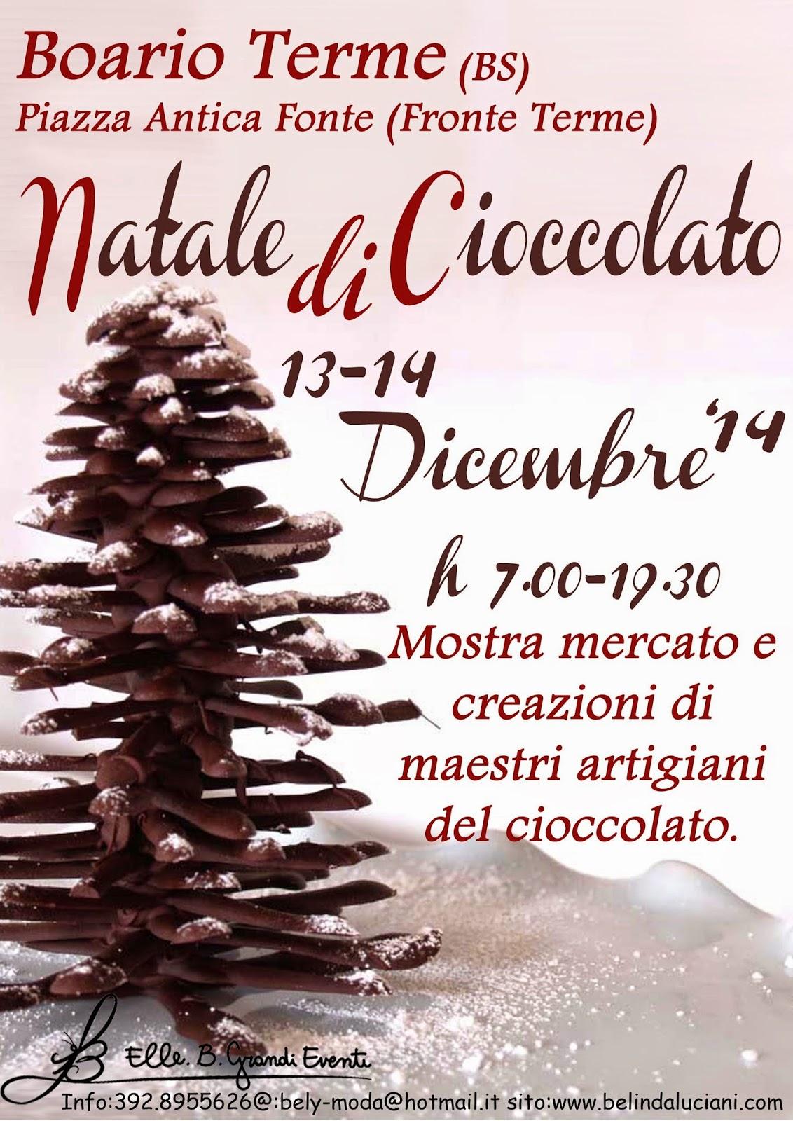 Natale di Cioccolato 13 e 14 Dicembre Boario Terme (BS)