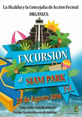 Excursión al Siam Park. Inscríbete en Alcaldía