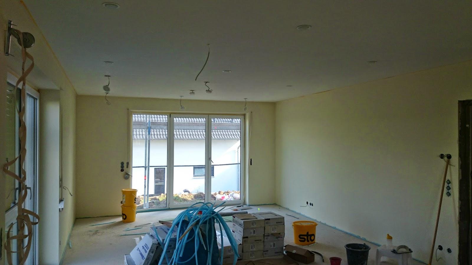Wir sind auf bau west das wohnzimmer ist fertig gestrichen for 7 1 wohnzimmer