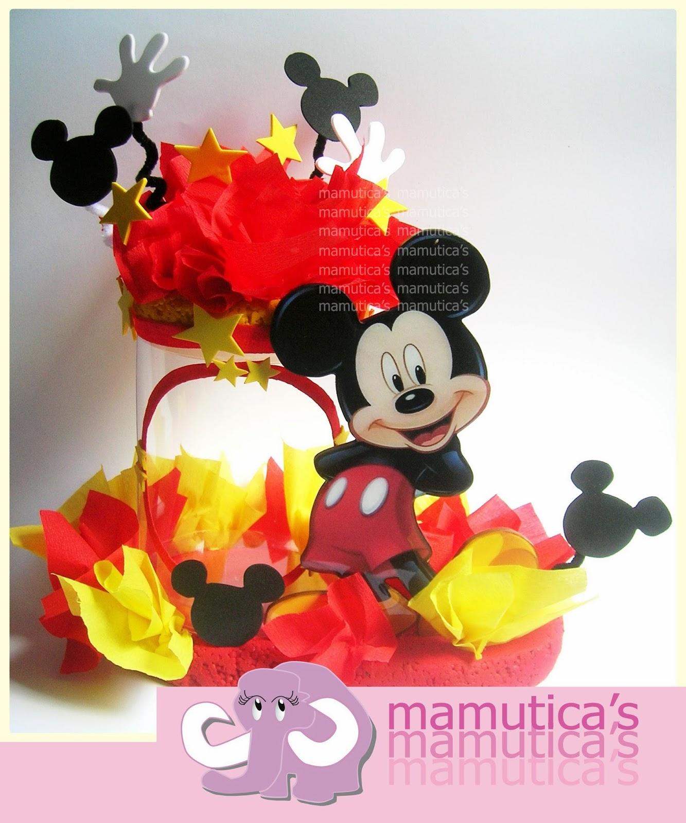 Manualidades clara centro de mesa de mickey mouse diy - Manualidades minnie mouse ...