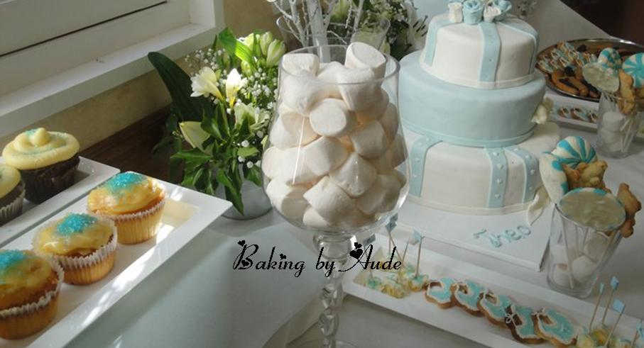 Baking by aude sweet table for Table de bapteme garcon