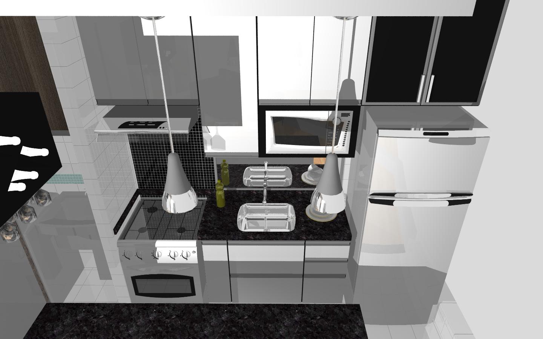 Os moveis da cozinha serao assim mesmo branco e preto só nao terá  #846547 1440 900
