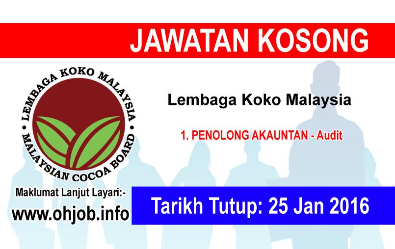 Jawatan Kerja Kosong Lembaga Koko Malaysia logo www.ohjob.info januari 2016