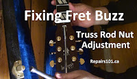 adjusting the truss rod with a deep socket
