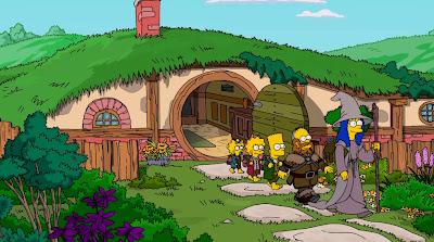'Los Simpson' viajan a la Tierra Media. Cabecera homenaje a 'El Hobbit'