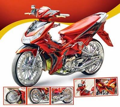 Modifikasi Suzuki Shogun Terbaru