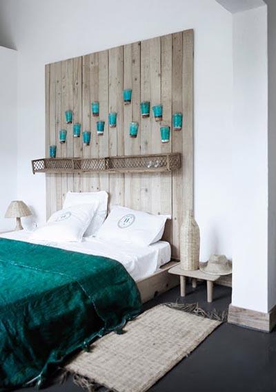 Arte y arquitectura madera reciclada bancos mesas y cabeceros - Cabeceros artesanales ...