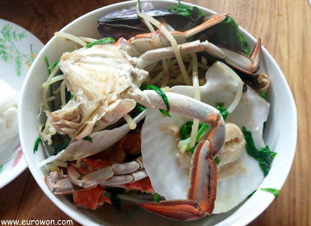 Plato de marisco coreano