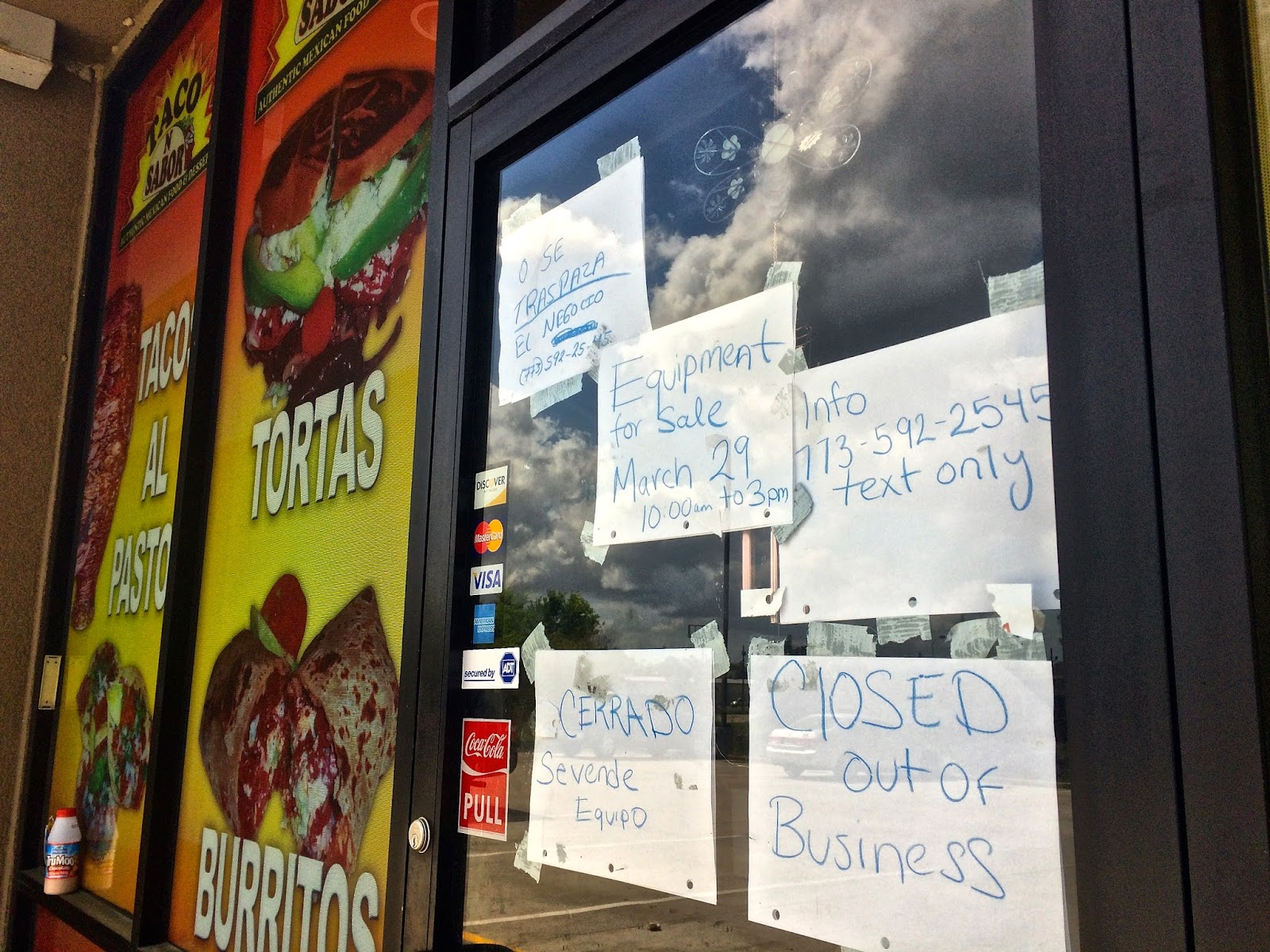 Taco n Sabor is closed and it sucks.