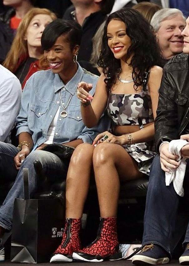 Rihanna Wearing Air Jordan XX8 Red Elephant Sneakers