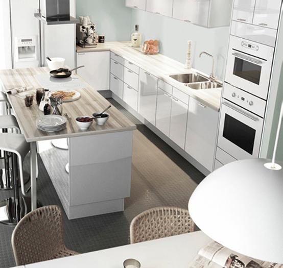 Aufbewahrung Geschenkpapier Ikea ~ Diseño Cocina Moderna con Concepto Funcional  Casas Decoracion