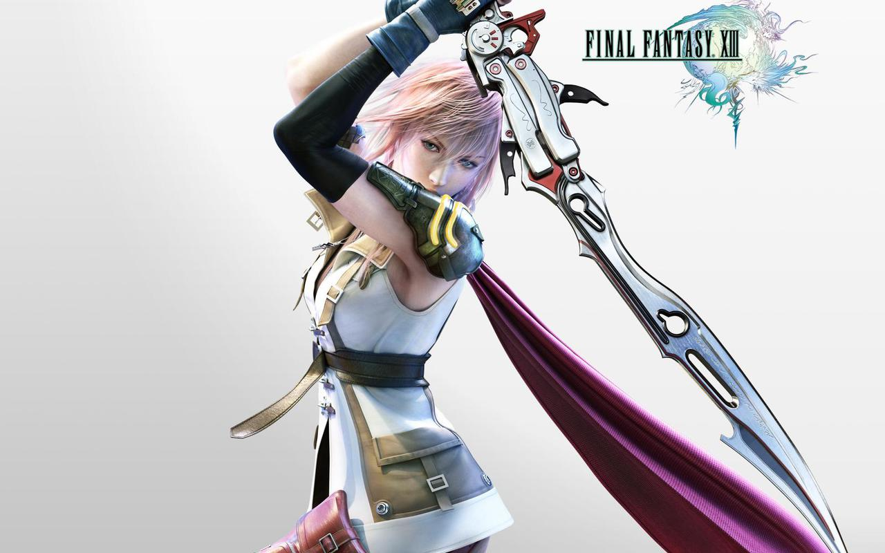 wallpapers stock rare: final fantasy xiii - wallpaper actress
