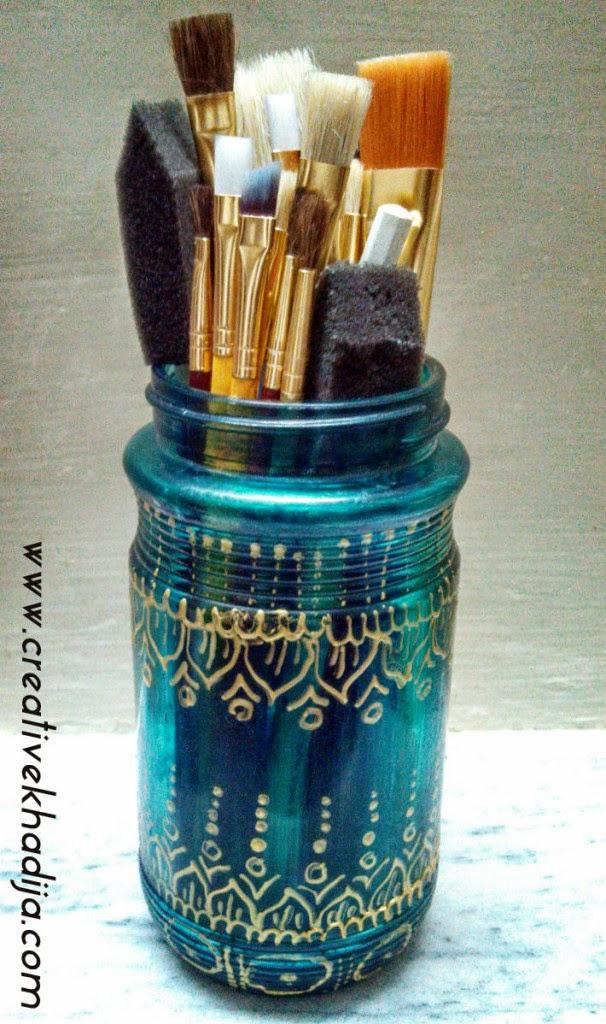 http://creativekhadija.com/2014/07/glasspaint-jar-organizer-tutorial/