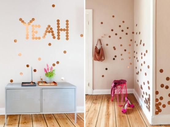 Decorar la casa con cobre