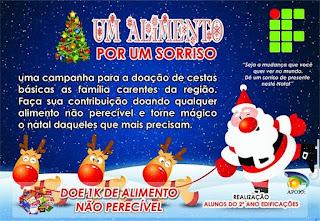 Alunos do IFPB Picuí realizam campanha de arrecadação de alimentos em Frei Martinho, Picuí e Nova Palmeira