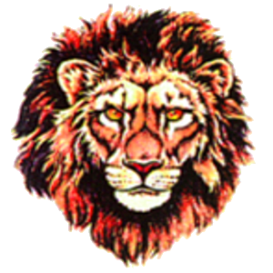 Lion Tattoo red thick fur