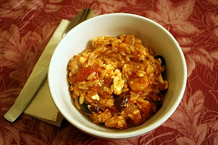 Baked Orzo with Shrimp, Tomato Sauce & Feta | I Was Born To Cook