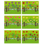 いろいろな果樹園のイラスト