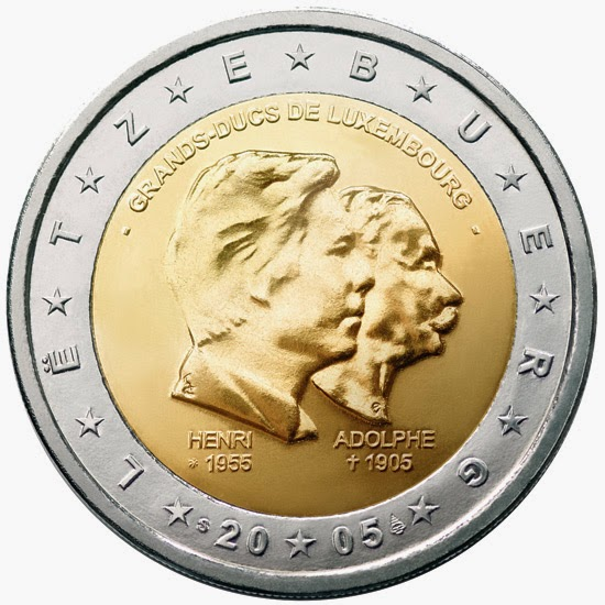 2 euro coins Luxembourg 2005 Grand Duke