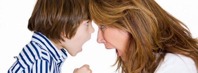 çocuğun anneyle inatlaşması